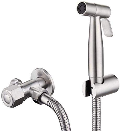 DJY-JY Set para baño de mascotas Closestool sentadillas, limpieza del suelo – Juego de pistola pulverizadora de bidé de acero inoxidable 304 con cabezal de rociado de bidé y accesorio de baño