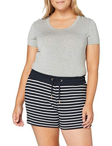 Superdry Orange Label Classic Short Pantalones Cortos, Azul (Navy Stripe Jkc), XS (Talla del Fabricante:8) para Mujer