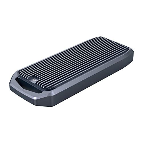 ORICO M.2 SSD Gehäuse USB4.0-Schnittstelle 40Gbps Reichen bis zu 2700mb/s für 2280 M-Key NVMe PCIe SSD Kompatibel mit Thunderbolt 3/4 USB 3.2/3.1/3.0 /Type-C Übertragungsprotokoll, Aluminum M2V01