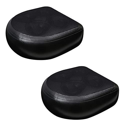 Spa Kissen PVC Anti-Rutsch Sitzerhöhung Whirlpool und Spa Matte, weiche Entspannungs-Matte mit Saugnäpfen, Schwarz