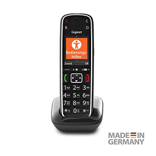 Gigaset E720 elegantes Seniorentelefon mit praktischen Bedienungshilfen (DECT Telefon mit Rufnummeransage, Bluetooth, SOS Funktion, einfacher Bedienung) 2,2