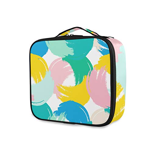 SUGARHE Elements Hipster Pattern with Brush Strokes,Sac cosmétique Multifonctionnel La beauté