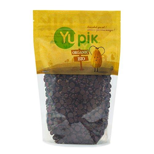 Yupik 70% Dark Chocolate, Organic Vegan Chips, 2.2 lb