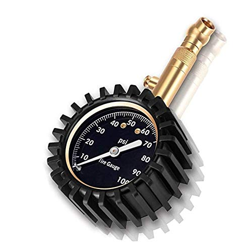 Jsdoin Heavy Duty Tire Pressure Gauge (0-100 PSI)- Certified ANSI...
