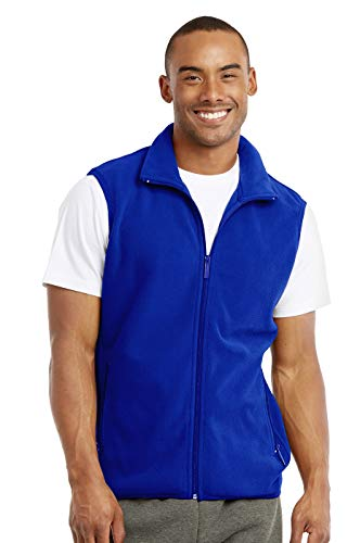Knocker Men's Polar Fleece Zip Up Vest (M, Royal Blue)