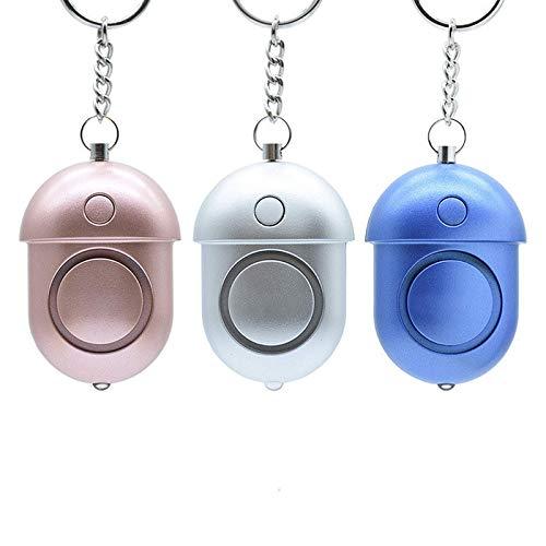 Mini alarma anti-lobo de moda, alarma de alto decibelio para mujeres, niños y ancianos, alarma de alto decibelio de socorro en la carretera nocturna al aire libre con luces LED