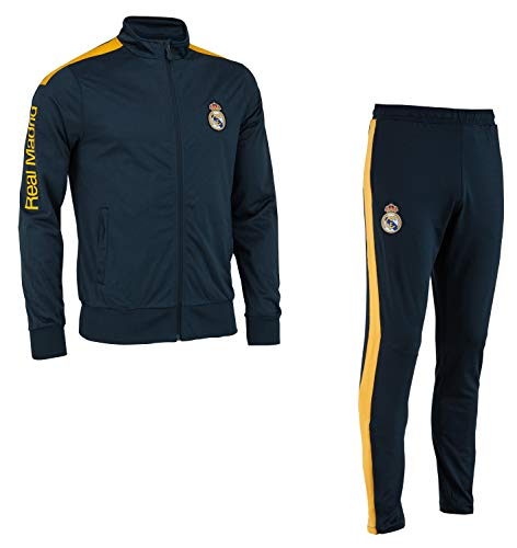 Real Madrid Chándal Training fit Chaqueta + Pantalones Colección Oficial - Hombre