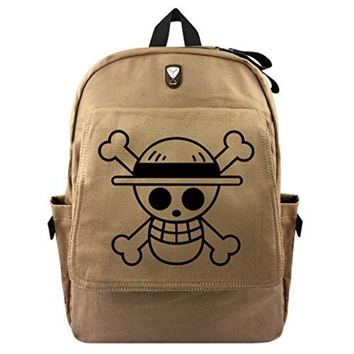 Cosstars One Piece Anime Bolsa de Lona Bolso de Escuela Estudiante Mochila de Viaje Casual Backpack