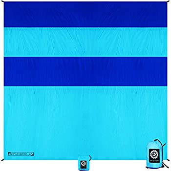 Sand Free Beach Blanket Waterproof Oversized and Large Sand Proof Beach Mat 10ft X 9ft for 7 Adults Lightweight Outdoor Mat for Picnic Camping Hiking and Travel Quick Drying with Zippered Pocket