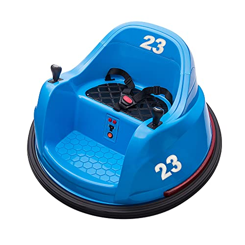 TOBBI 6V Kids Toy Electric Ride On Bumper Car Vehicle Remote Control 360 Spin ASTM-Certified, (Light Blue)