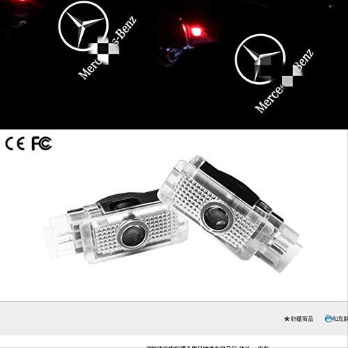 BegrüßungslichtW203 CLA CLS CLK SLK SLR W208 R17 2 Stk. Logo Beleuchtung AutotürlampeBegrüßungslichtGlühtür Auto Projektor Licht Logo