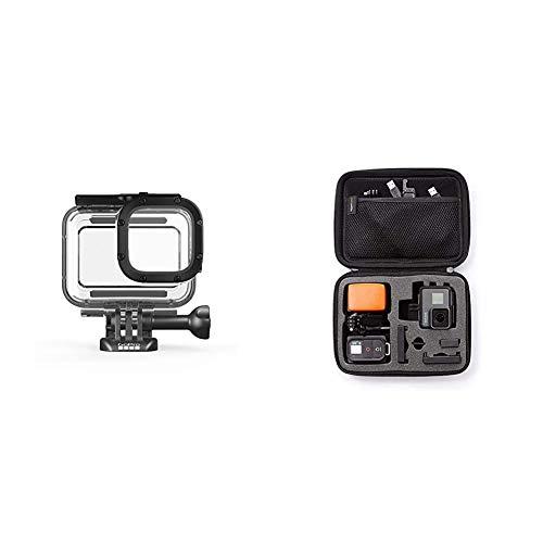 GoPro Schutzgehäuse für HERO8 Black (Offizielles GoPro Zubehör) & AmazonBasics Tragetasche für GoPro Actionkameras, Gr. S
