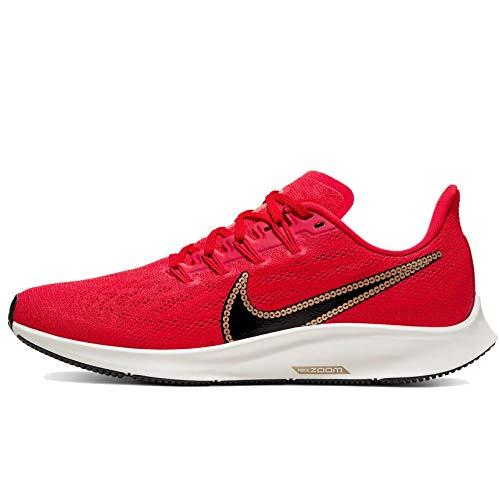 Nike Women's Air Zoom Pegasus 36 University Red/Sail/Black/Metallic Gold CT1150-600 (Size: 8)