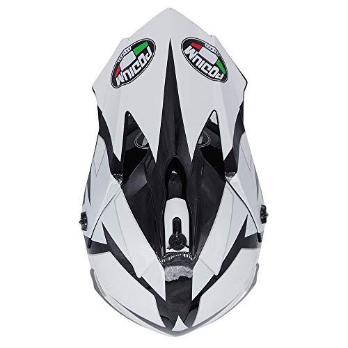 Locomotora Todoterreno Carrera en Bicicleta de monta/ña ATV Volando Cuesta Abajo Casco Integral certificaci/ón Dot Regalo Juego de 4 WWtoukui Casco de Motocross de Moda en Blanco y Negro ,M:54~56cm