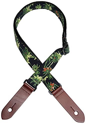 Daikingウクレレストラップヤシの木柄日本製ひも付きでネックにも取り付け可能