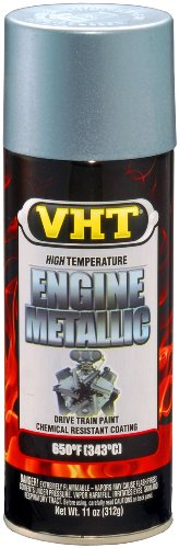 VHT SP403 Engine Metallic Titanium Silver Blue Paint Can - 11 oz.