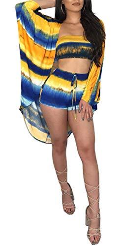Tankini Dames Elegante Casual Gedrukt Mode Badfeest Badpak Mode Suits + Boxershort + Tuniek 3 Stuk Zomer Trendy Badpak Set