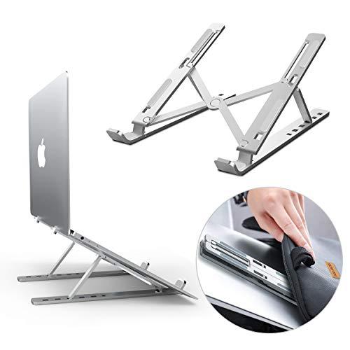 DOB SECHS Laptop Ständer, Einstellbare Tragbarer Faltbare Aluminiumlegierung Laptop-Halterung, Notebook ständer für MacBook Air Pro, Huawei, Lenovo, Dell, HP, Samsung