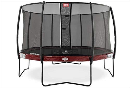 BERG Trampoline Elite round 380 met veiligheidsbehuizing Net Deluxe | Premium trampoline, kindertrampoline, levenslange garantie, spring hoger met TwinSpring en Airflow