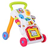 KUIDAMOS Carrito de bebé Science Toddler Mejorar la Capacidad Andador de bebé Carrito Caminante de pie y Sentado