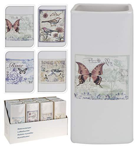 4 x Luftbefeuchter Heizung 340ml Verdunster für Heizkörper aus Keramik Vintage Motive