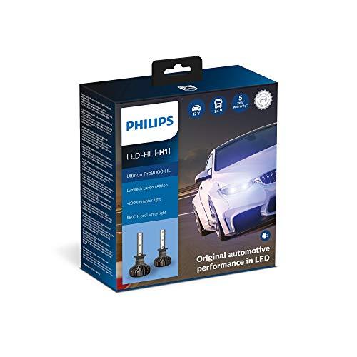 Philips Ultinon Pro9000 LED ampoule de phare autombile (H1), set de 2
