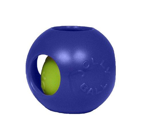 Jolly Pets Teaser Ball Jouet pour Chien Bleu 10 cm