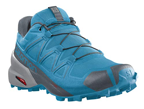 Salomon Men's Speedcross 5 Trail Running Shoe, Hawaiian Ocean/Stormy Weather/Quarry, 9.5