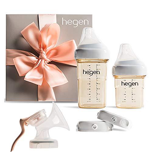 Hegen Newborn Baby Bottle Basic Starter Kit with Add On Manual Breast Pump