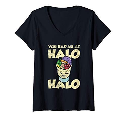 Womens You Had Me At Halo Halo Filipino Cuisine Philippines Dessert V-Neck T-Shirt