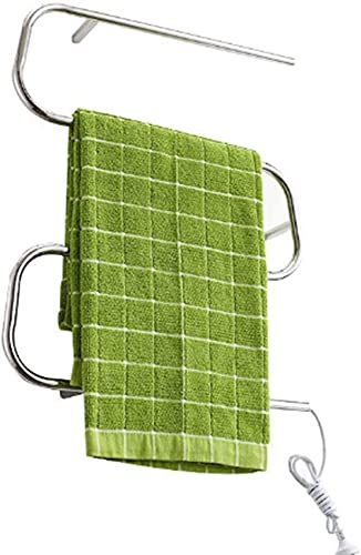 Radiador eléctrico curvo para toallas, calentador de toallas con calefacción y rejilla...