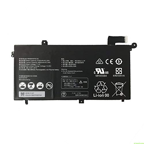 7xinbox 11.4V 42.2Wh 3700mAH HB46K497ECW Repuesto Batería para Huawei Matebook D 2018 PL-W19 MRC-W60800G5M, Odyssey NP800G5M