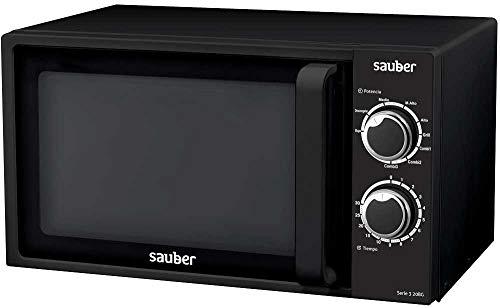Sauber - Microondas Con GRILL SERIE 3-20BG - 20 litros - Color Negro