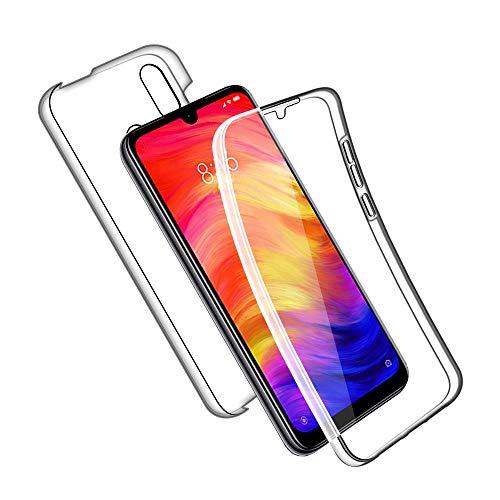 SDTEK Custodia per Xiaomi Redmi Note 7 Protezione Frontale Posteriore Tutto Corpo 360 Cover Trasparente Trasparente