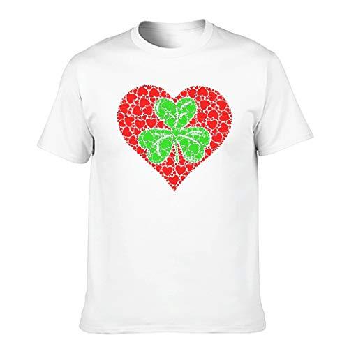 Cómoda camiseta para hombre, diseño vintage con trébol y trébol blanco XXXXXL
