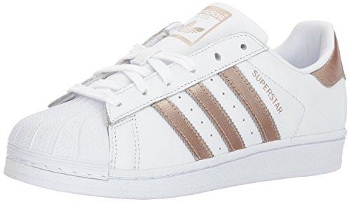 adidas Originals Women's Superstar Shoes Running Cyber Metallic/White, 6.5 M US