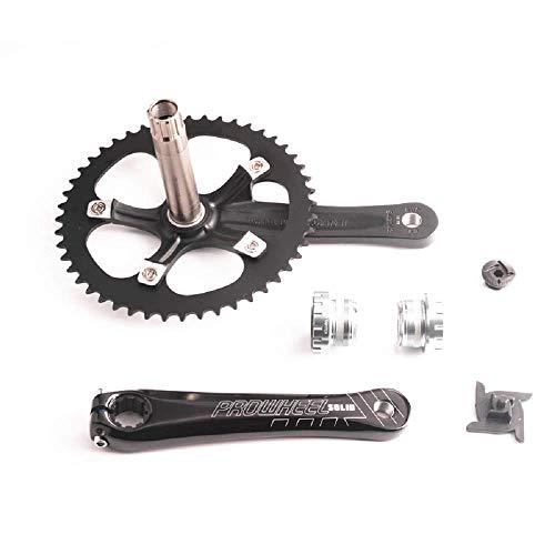 42//34//24 Triple Alliage Manivelle Cotterless Mountain Bike Chainwheel Set 175 mm Noir