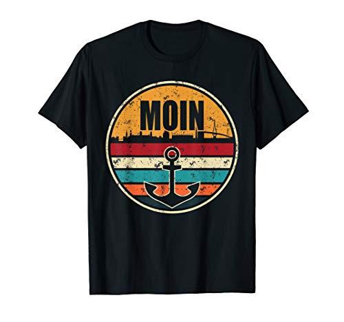 Moin Cooler Spruch Geschenk I Hafen Anker See Meer Segeln T-Shirt