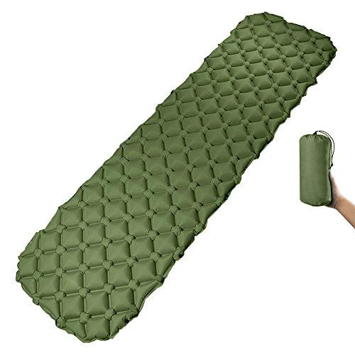 ToWinle Camping Isomatte, Aufblasbare Luftmatratze mit Kleines Packmaß Isomatte Kompakte Campingmatratze Zelt Schlafmatte 190 * 60CM