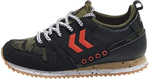hummel Marathona Camo JR Sneaker Schuhe Camouflage/schwarz/grün/bunt 204948-2001, Schuhgröße:37 EU