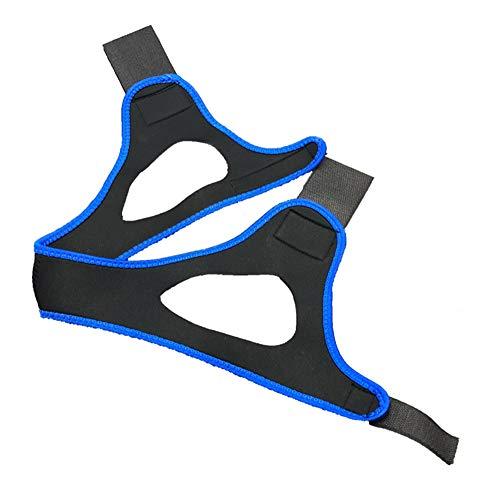 AntiRonquidos Correa de Barbilla Profesional Dispositivo Anti Ronquido Ajustable para Aliviar Roncar,Mejor Dormir para mujeres y hombres,Azul