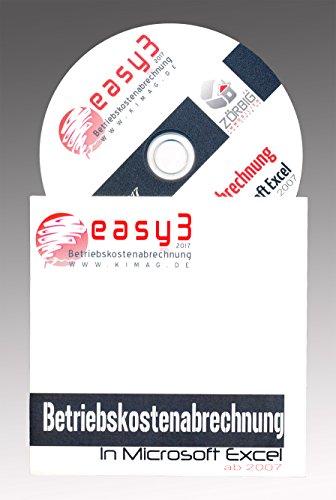 Easy3 - Betriebskostenabrechnung / Nebenkostenabrechnung Software in Excel. DAS ORIGINAL! Alle Jahre, holen Sie sich Ihr Geld zurück!