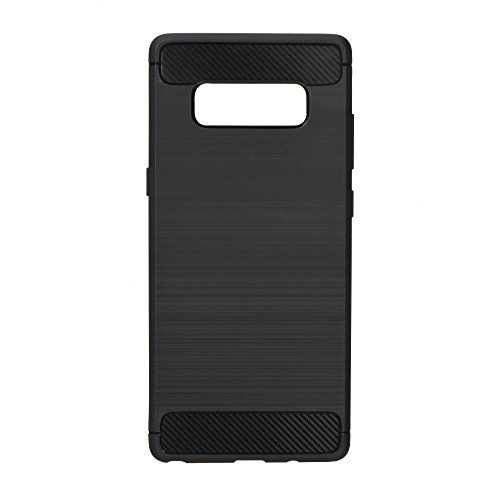 TOP EUROPE Xiaomi Redmi 8 - Carbon Case Funda Acabado en Carbono de Gel TPU Flexible Carcasa Trasera Protección Total Super Fina para Xiaomi Redmi 8 - Negro