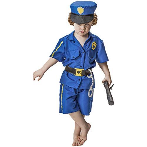 Fantasia Policial Infantil Curta Com Quepe Cinto Algema (GG 11-12)