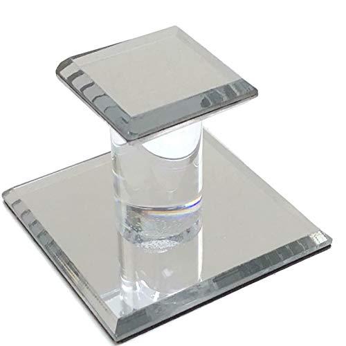 CRL Clear Acrylic Stick-On Small Mirror Pull - 1-3/4' Squ