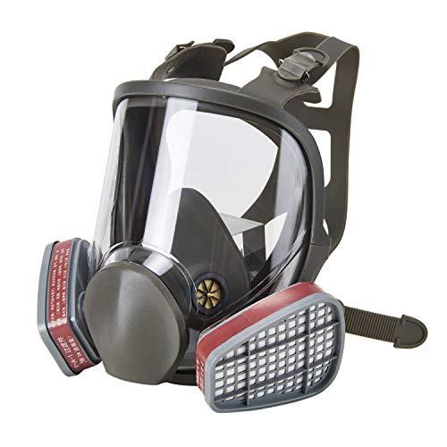 HOLULO Respirador Facial de Vapor Orgánico, Protección Facial Máscara de Seguridad para Pintura,Cert