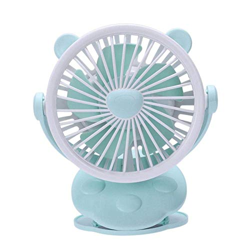JHTD Mini Clip portátil en Ventilador USB Recargable para Cochecito de Viaje Camping al Aire Libre Carruaje de bebé Ventilador de Ventilador de Ventilador Verde