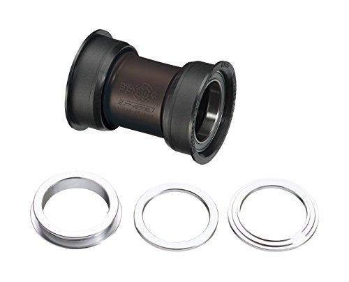 FSA PF30 MTB Unisex Soporte Inferior, Negro, Eje: 30 mm, Ajuste de Empuje, 68/73 × 46 mm