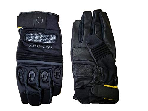 Olympia Sports Men's Knight Motorcycle Gloves (#770 Black)