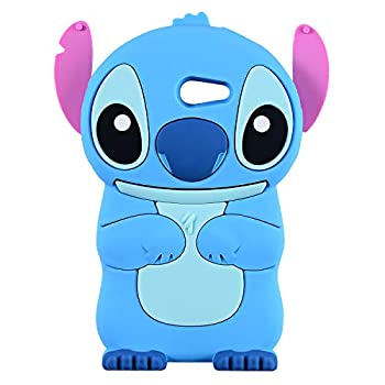 Blue Stitch Case for Samsung Galaxy J3 Emerge/J3 Prime,Express Prime 2,J3 Mission/J3 Eclipse,3D Cartoon Animal Cute Soft Silicone Rubber Cover,Kawaii Character Cool Cases for Kids Teens Girls J3 2017